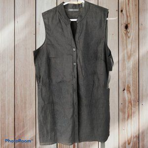 2/$30 Black Linen Tunic